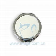 圆型荷叶化妆镜 化妆镜 影像化妆镜 热转印化妆镜 个性产品