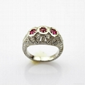 Sterling Si  er Jewelry Created Ruby