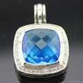 David Yurman 14mm Blue Topaz Albion