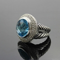 David Yurman Ring 925 Sterling Si  er