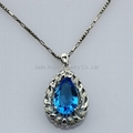 Sterling Si  er Jewelry Blue Topaz Drop