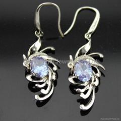 Sterling Silver Jewelry Cubic Zircon Pendant