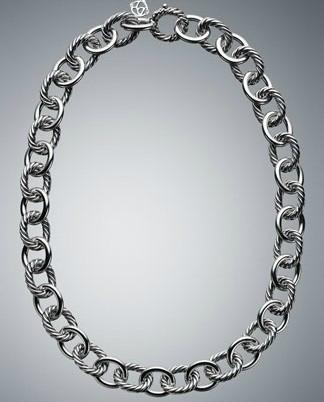 David Yurman Designer Inspired 925 Si  er Oval Link Necklace 1