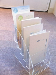 Acrylic POP Document Rack