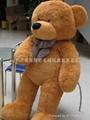 情人节礼物 济南毛绒玩具超柔风衣泰迪熊