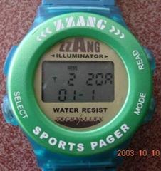 手錶式尋呼機用於無線呼叫接收機