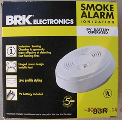 Wireless ionization smoke detector