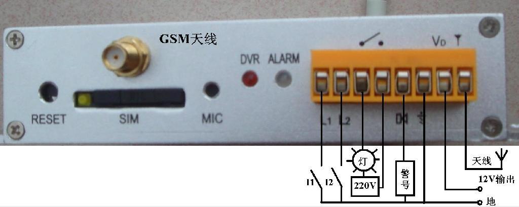 2路AV输入彩信报警器 2
