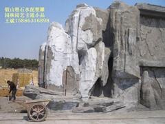 假山塑石水泥雕塑,瀑布假山,室內塑石溶洞,水泥直塑,廣場公園雕塑