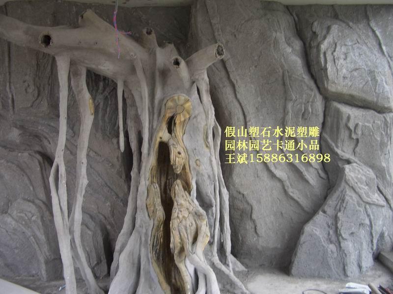 水泥直塑,廣場公園雕塑,小區假山,佛像雕塑 5