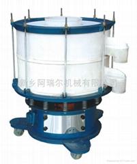 Circular vibratory screening machine