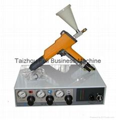 Cup powder coating gun unit