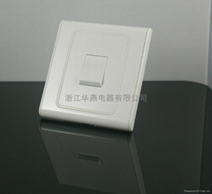 1gang 1way switch BS wall switch socket