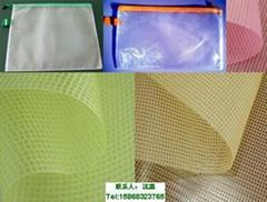 廠家現貨供應1.37M文件袋中空板週轉箱防塵蓋用透明PVC夾網網格布