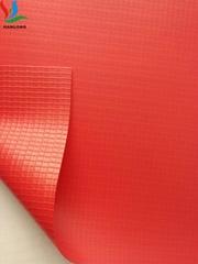 供应蹦床夹网 PVC夹网跳床包边布 6P环保0.35mm 抗