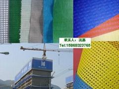 供應出口日本灰色防炎 防火 建築安全防護用250DPVC網格