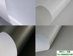 供应出口日本建筑防音防炎用灰色高强PVC刀刮遮音布卷料