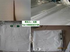 工厂热销 PVC防炎布 批发涂塑布 夹网布 白防炎布出口日本