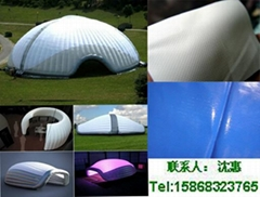 批量供应PVC夹网布 充气城堡气密布 游乐设施PVC材料