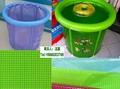 供应PVC透明夹网布  文件袋面料  透明网格布 网格袋面料 2