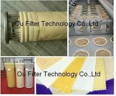 Dust filter sleeve, filter bag, dust bag