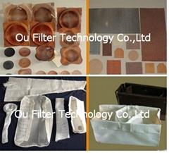 Fiberglass mesh for filtering aluminium