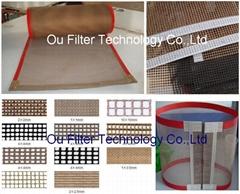 PTFE/Teflon mesh screen conveyor belt
