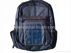 Solar Notebook Backpack(1W flexible solar panel)