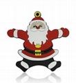 PVC Santa Claus USB FLASH MEMORY (HU-163)