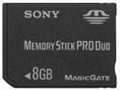 SONY 8GB Memory Stick Pro Duo ,Memory Cards