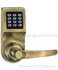Remote control password electronic door lock