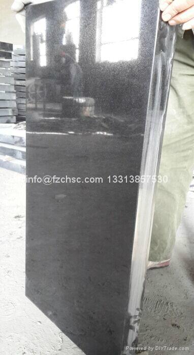 Rectangular black granite monument 1
