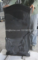 Absolute black granite figure monument