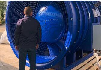 大型可調角度軸流風機-汽車實驗室 1