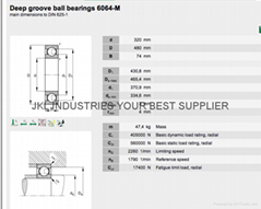 DEEP GROOVE BALL BEARINGS 6064M