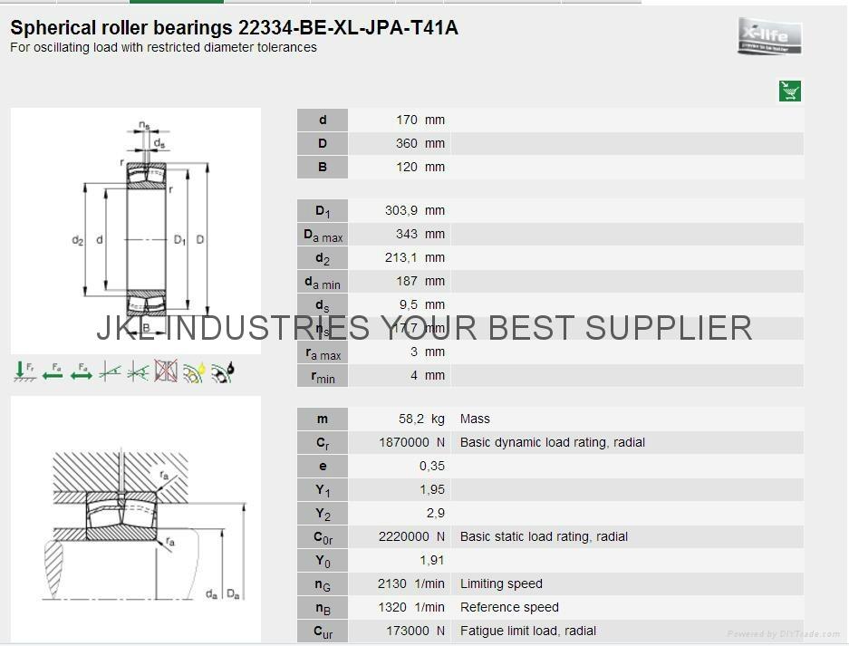 FAG   22334A.MA.T41A Angular contact ball bearings 5