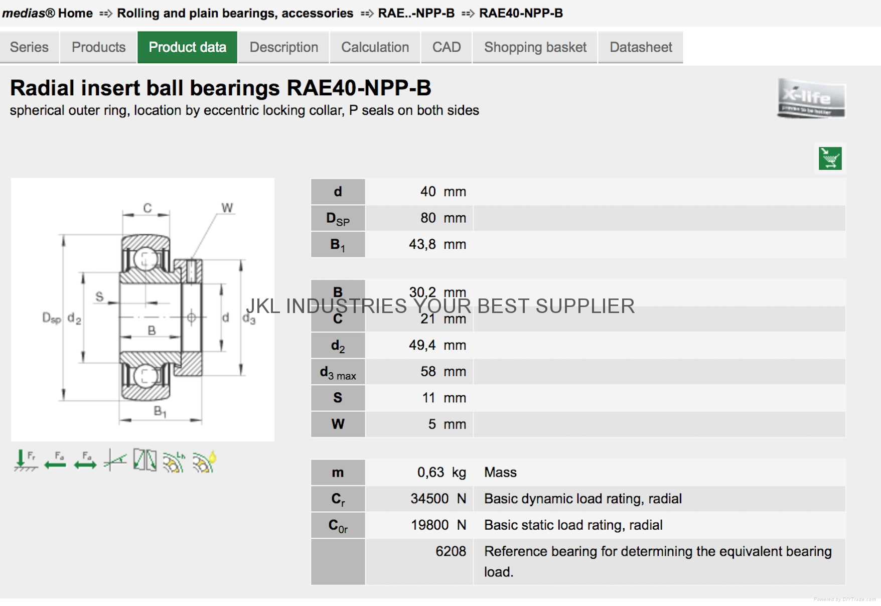 INA  RAE40-NPP-B  Tepered Roller Bearings 5