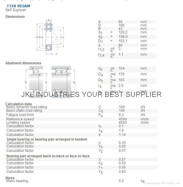 SKF  7318BEGAM   Angular Contact Ball bearings 1
