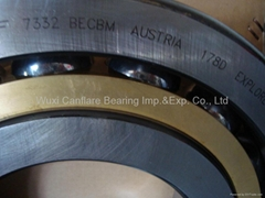 Angular contact ball bearings, single row
