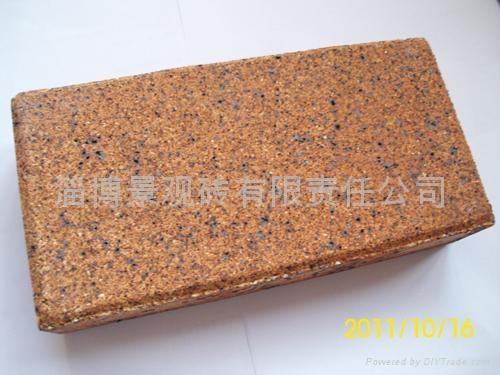 褐色棕色燒結磚景觀磚廣場磚 1