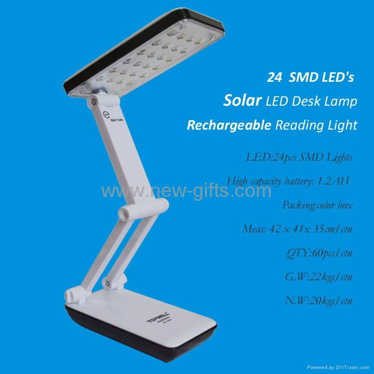 Solar Foldable Rechargeable Eye Protective 24 Leds Charging Table