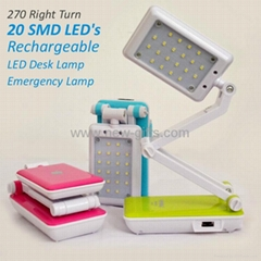 Portable Adjustable Work and Study Foldable Charging Desk Lamp