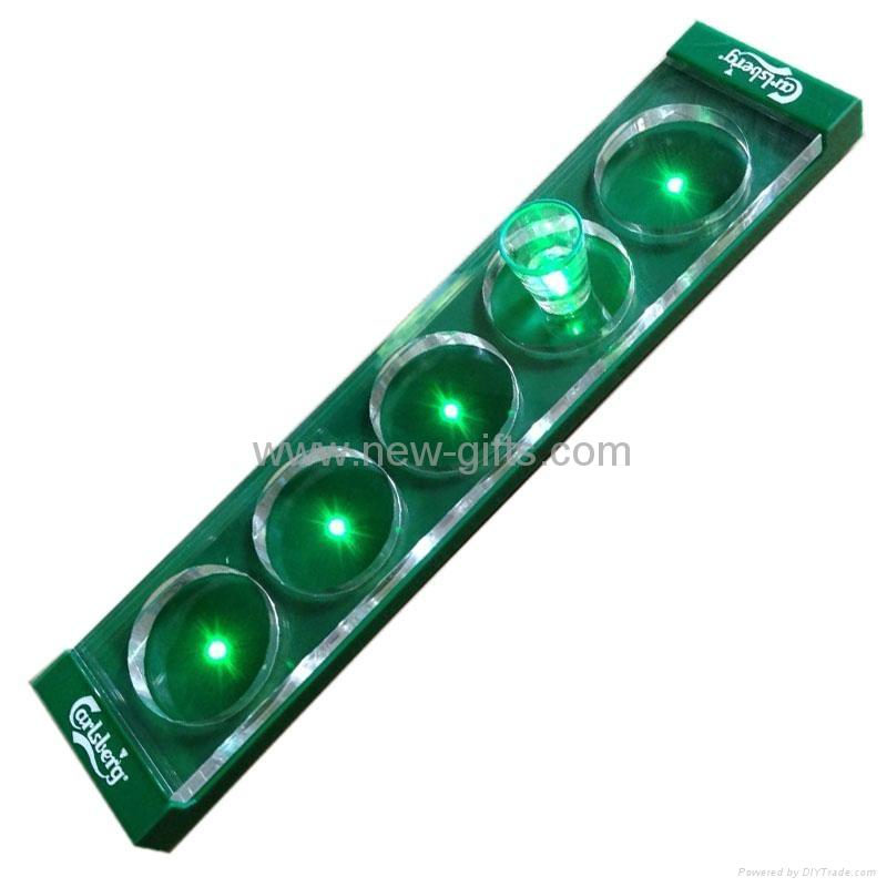 亚克力发光酒架 LED展示架 欢迎定做 2