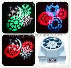 LED Eight gobo four color design light/ LED effect light/