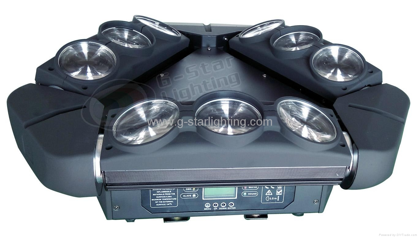 Three wings of LED moving head light