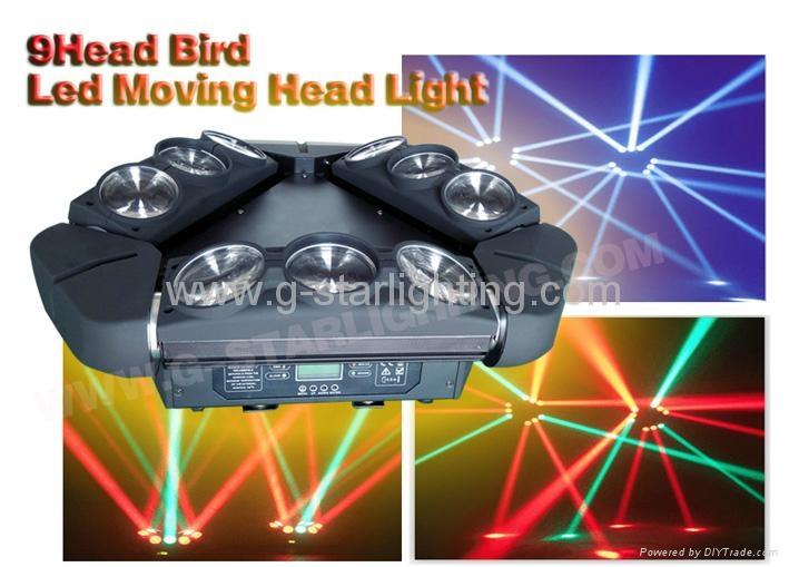 9 pcs led moving head light