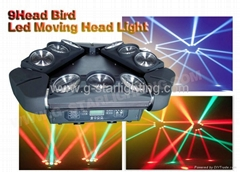 9 heads Birds Led Moving Head Lights