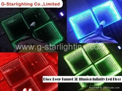 Time Tunnel 3D Effect Portable Used Dance Floor //led dance floor/stage lighting
