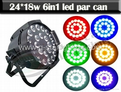24*18w 6in1 RGBW+UV  led  par can/ led