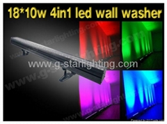 18*10w 4in1 leds single point of control wall washer/ indoor led wall washer